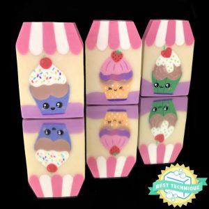 Kawaii Cupcakes Inlaid Soap - Soap Authority: Making detailed soap designs u