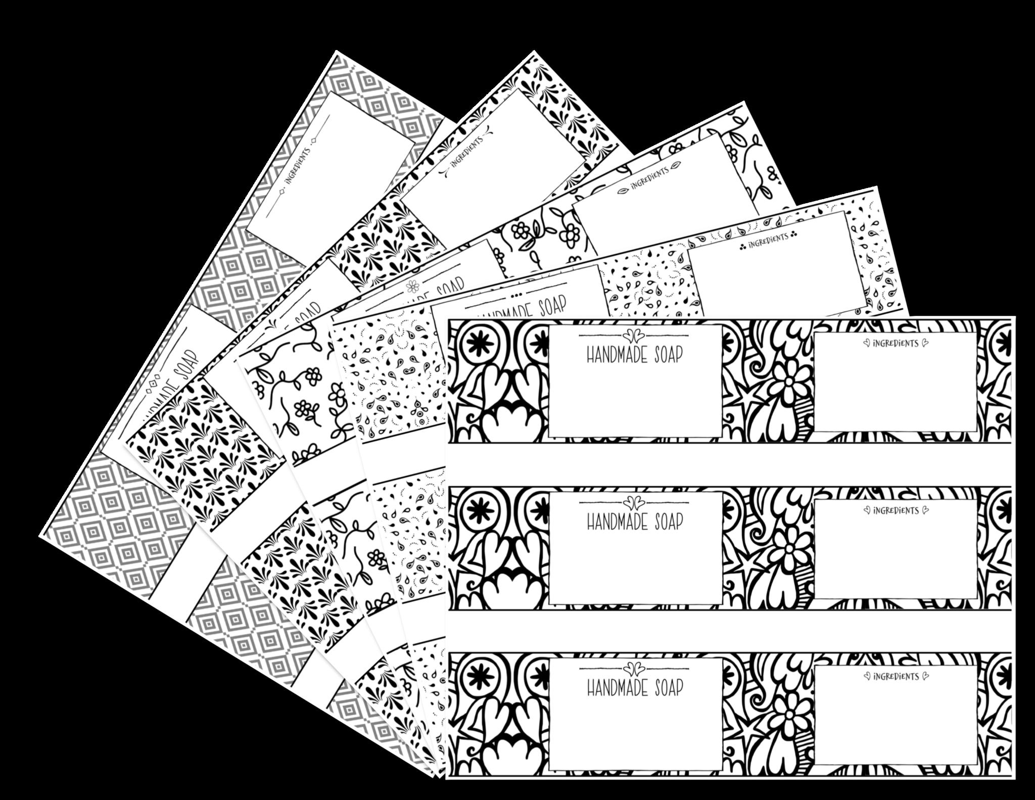 Monochrome Soap Label Templates – Soap Authority