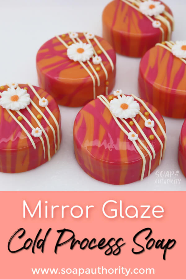 Mirror Glaze Soap Cakes - Soap Authority: Follow along as I make six mirror glaze soap cakes using the same technique bakers use.